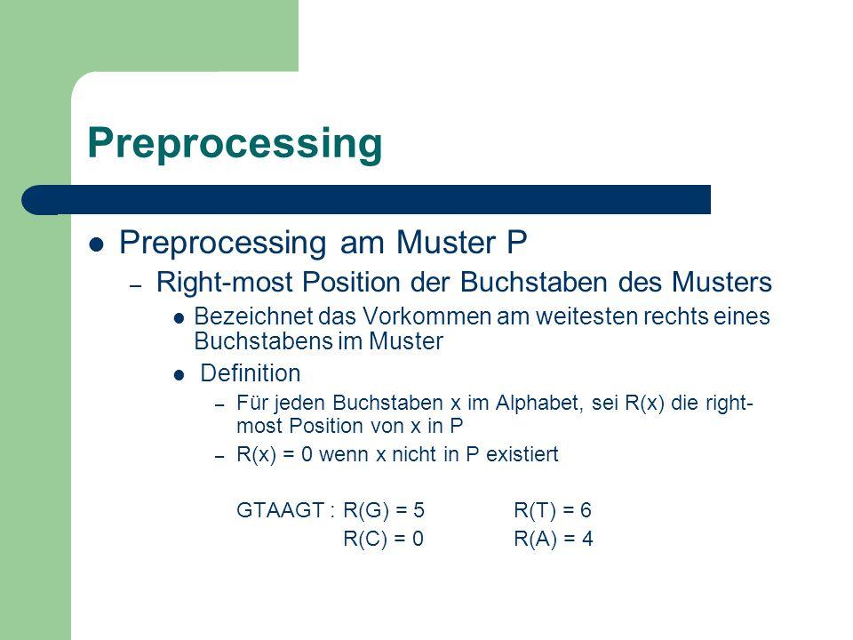 Preprocessing Preprocessing am Muster P