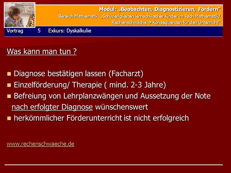 Diagnose bestätigen lassen (Facharzt)