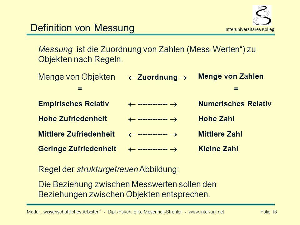 Definition von Messung