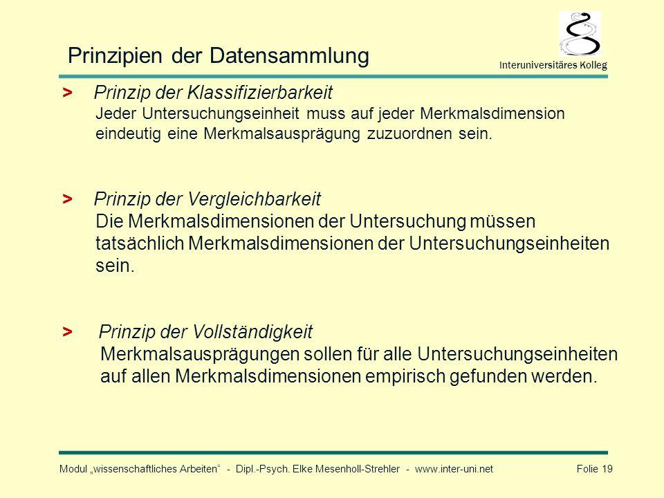 Prinzipien der Datensammlung