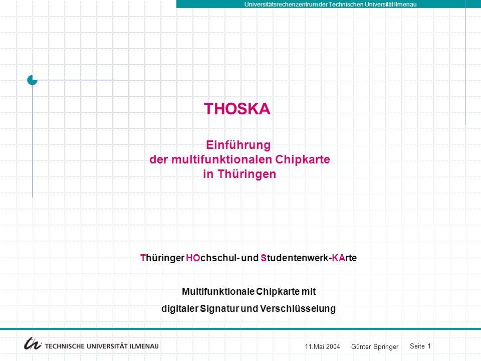 THOSKA Einführung der multifunktionalen Chipkarte in Thüringen