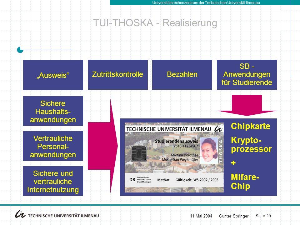 TUI-THOSKA - Realisierung