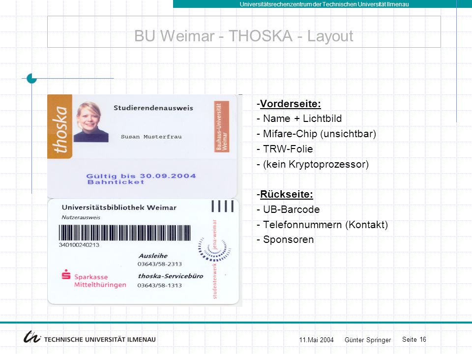 BU Weimar - THOSKA - Layout