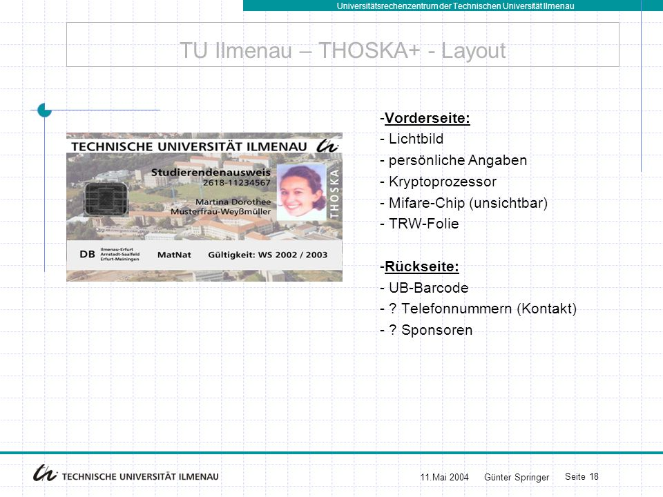 TU Ilmenau – THOSKA+ - Layout