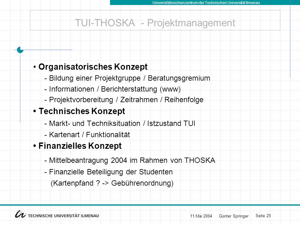 TUI-THOSKA - Projektmanagement