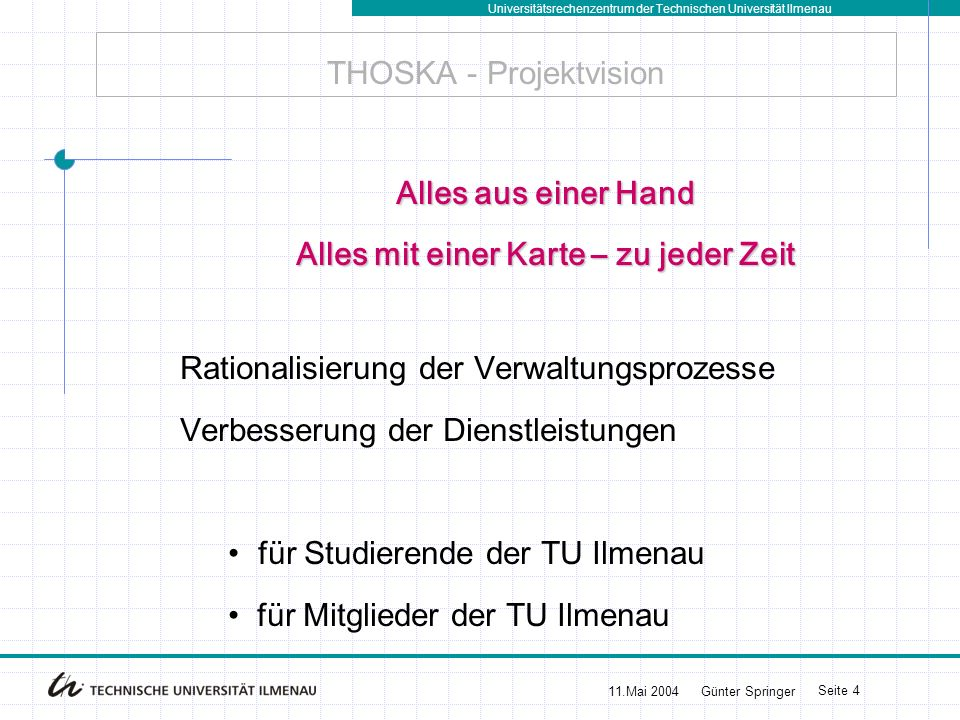 THOSKA - Projektvision