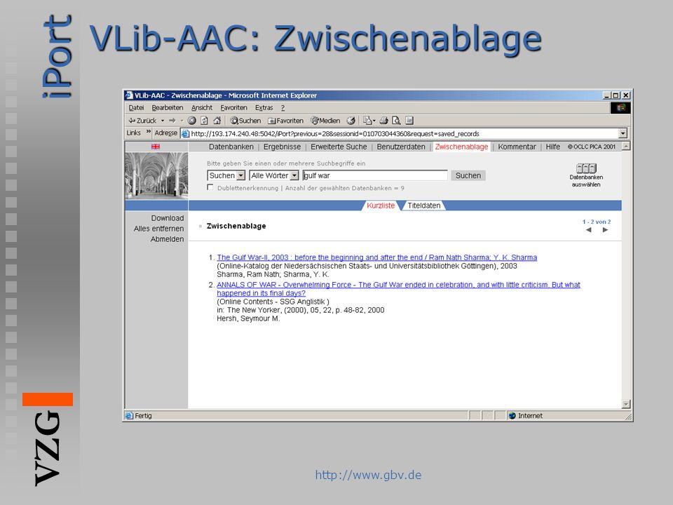 VLib-AAC: Zwischenablage