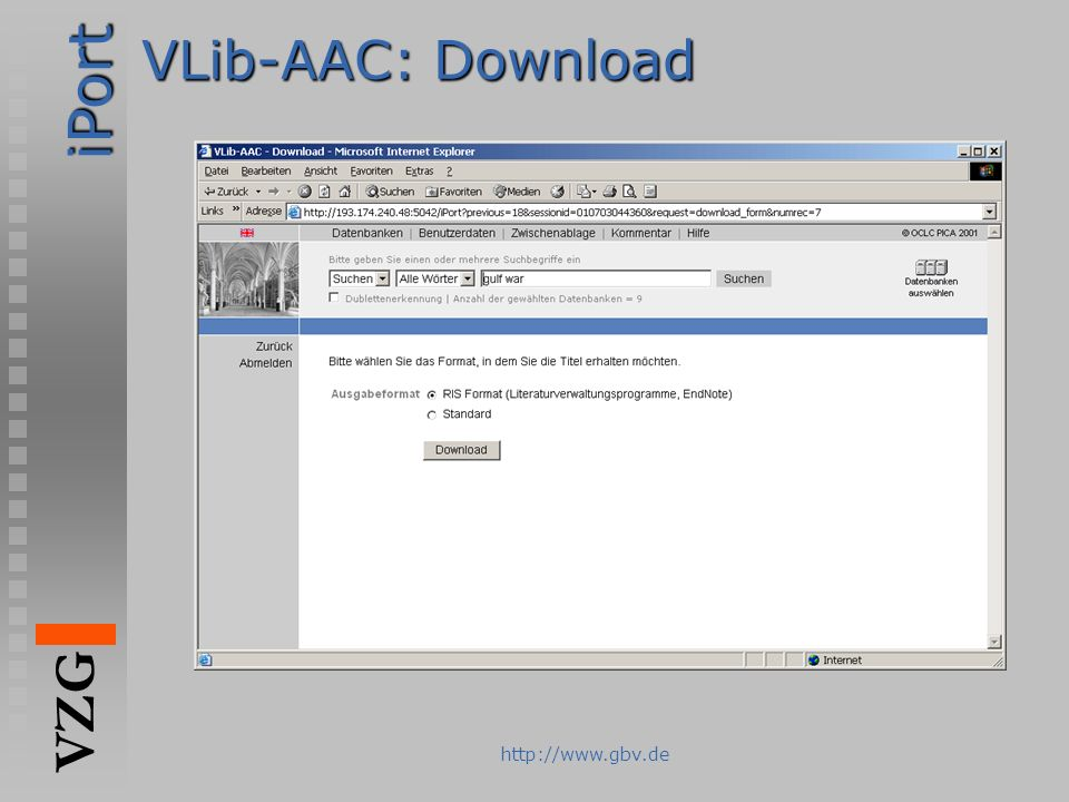 VLib-AAC: Download http://www.gbv.de