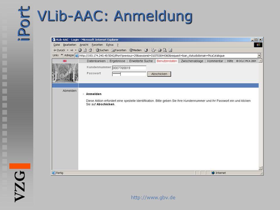 VLib-AAC: Anmeldung http://www.gbv.de