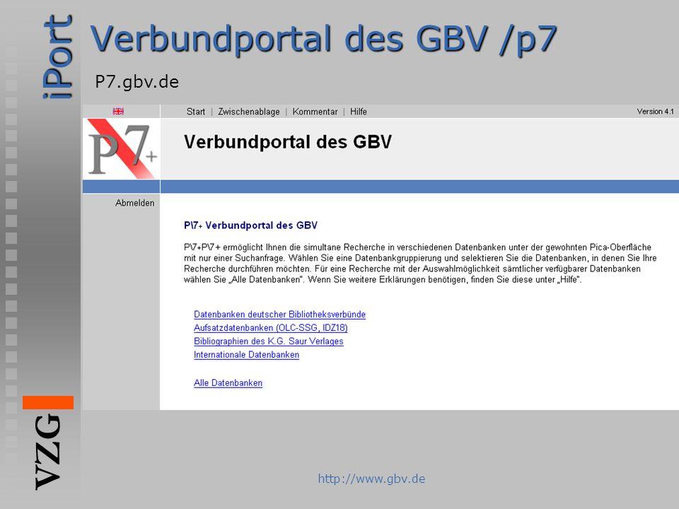 Verbundportal des GBV /p7