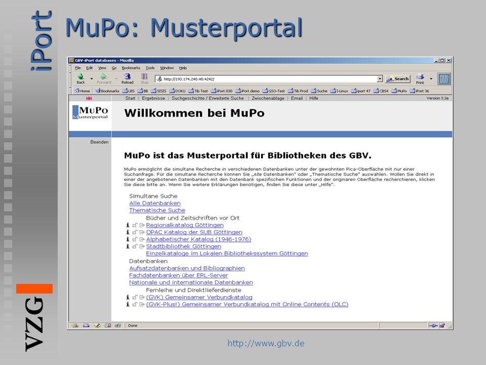 MuPo: Musterportal http://www.gbv.de
