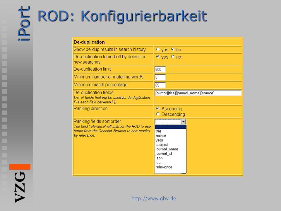 ROD: Konfigurierbarkeit