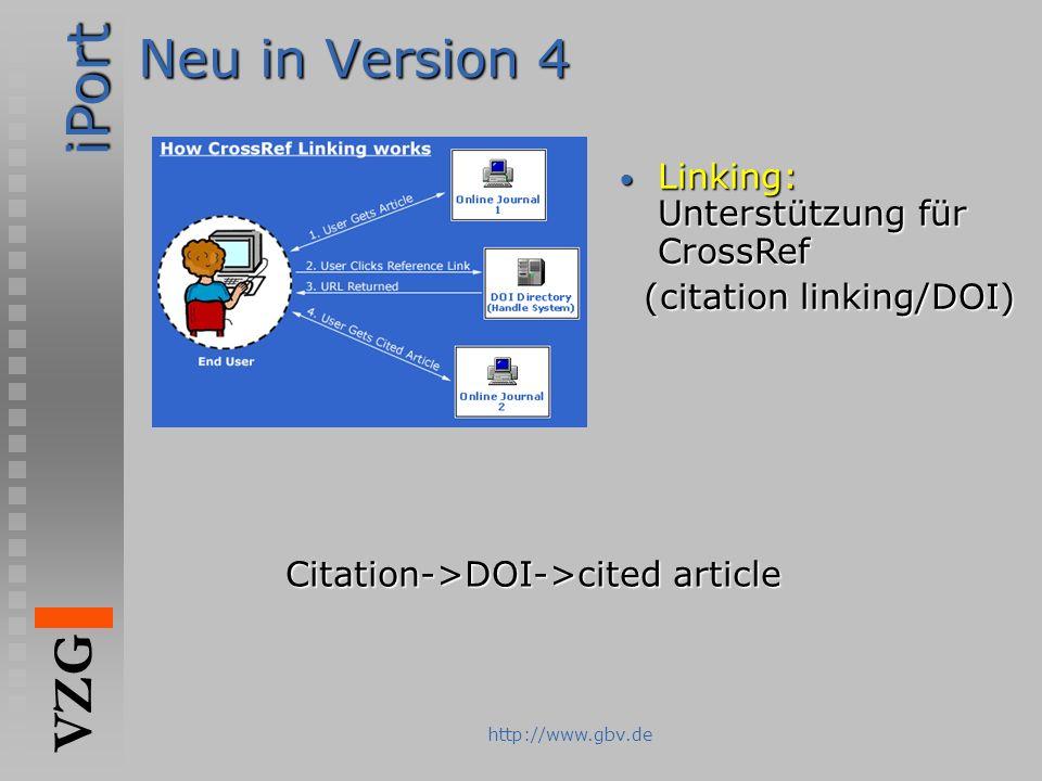 Neu in Version 4 Linking: Unterstützung für CrossRef