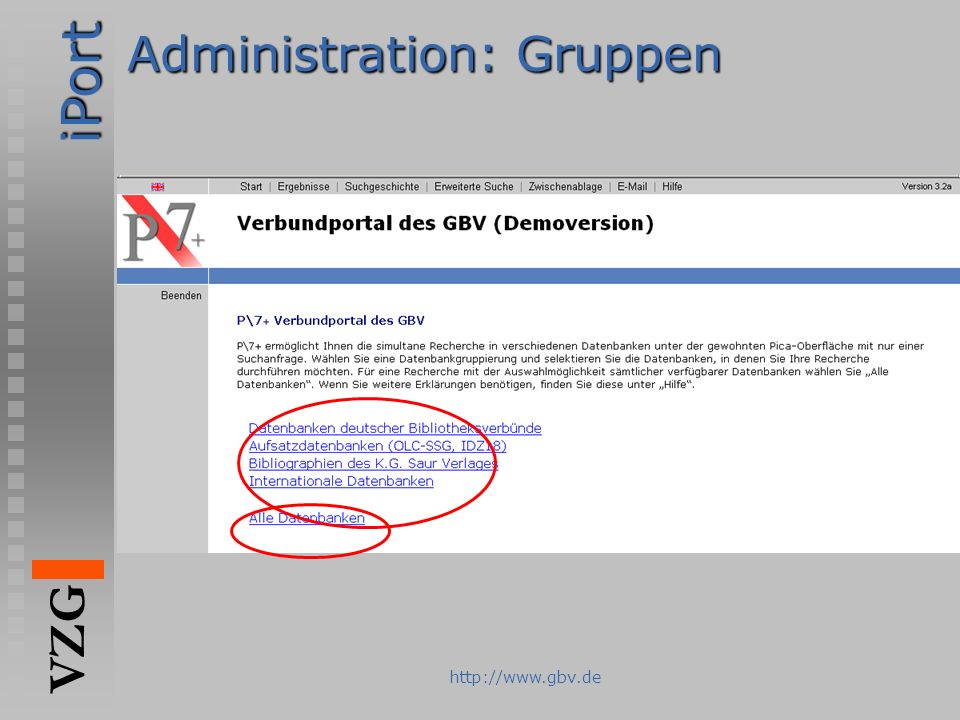 Administration: Gruppen