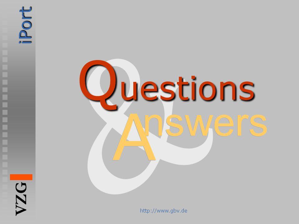 & Questions nswers A http://www.gbv.de