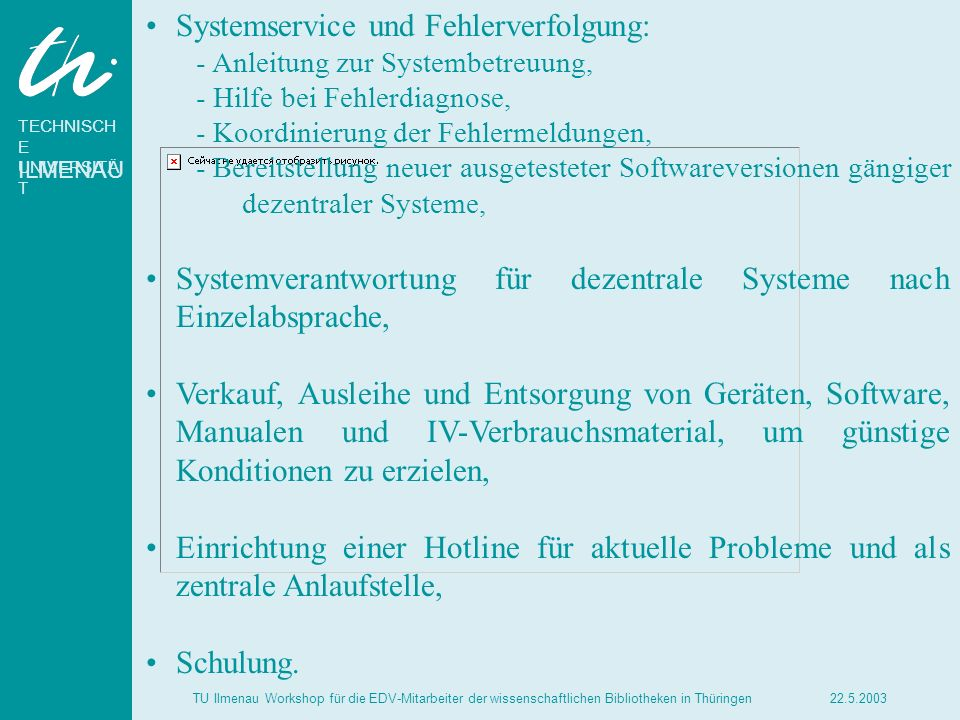 Systemservice und Fehlerverfolgung: