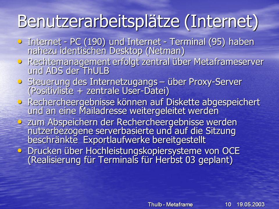 Benutzerarbeitsplätze (Internet)