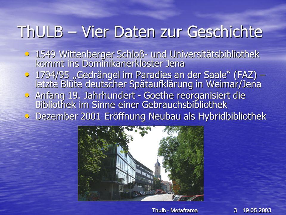 ThULB – Vier Daten zur Geschichte