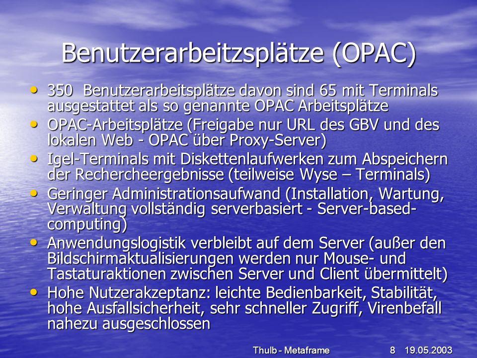 Benutzerarbeitzsplätze (OPAC)