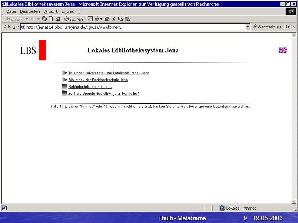 Thulb - Metaframe 19.05.2003