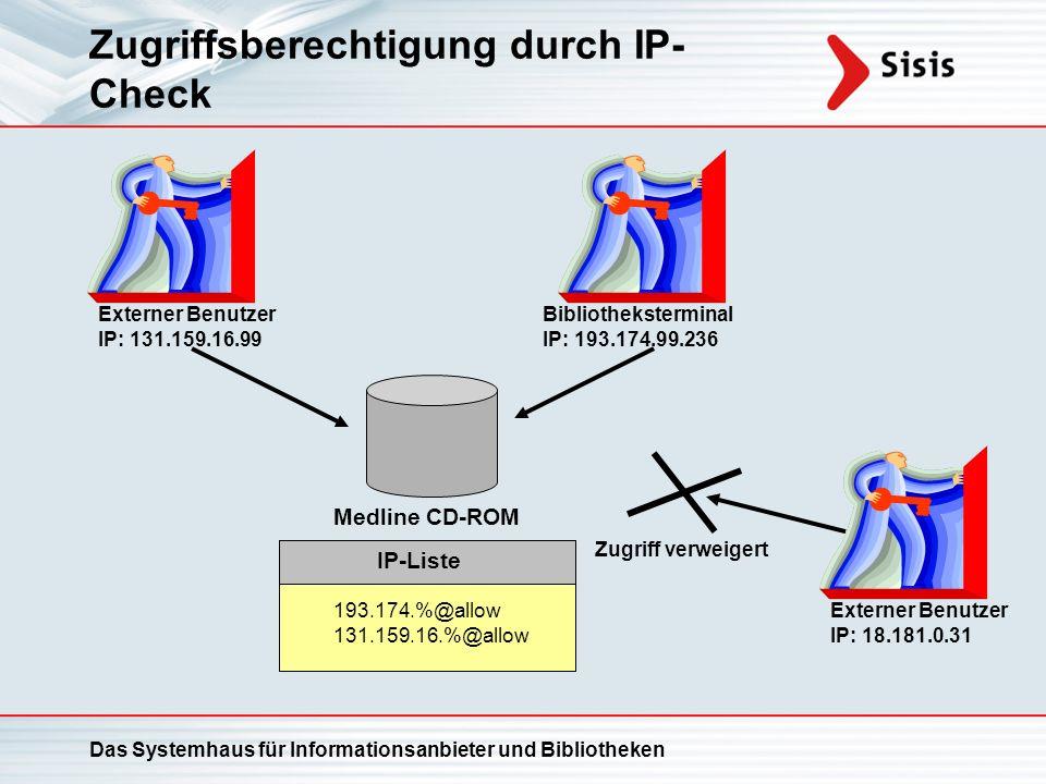 Zugriffsberechtigung durch IP-Check