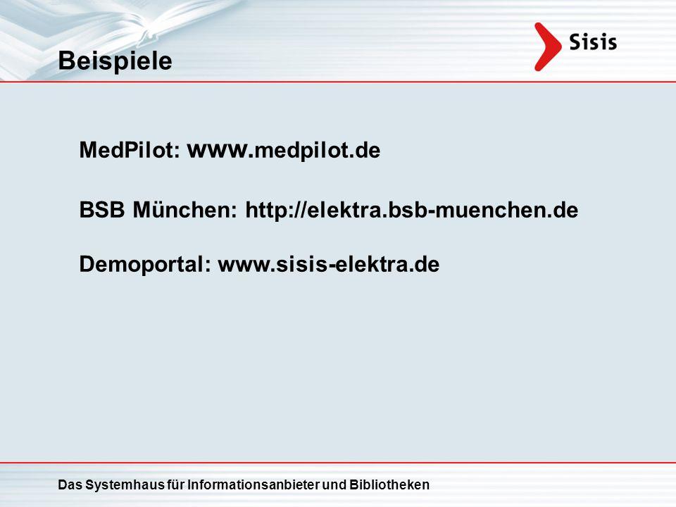 Beispiele MedPilot: www.medpilot.de