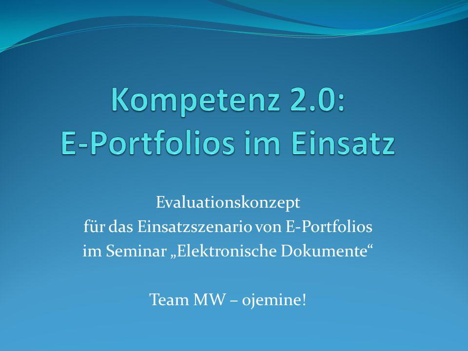 Kompetenz 2.0: E-Portfolios im Einsatz