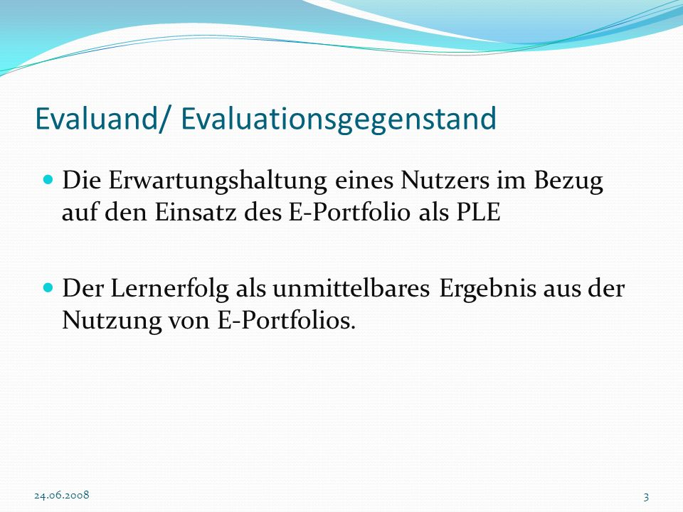 Evaluand/ Evaluationsgegenstand