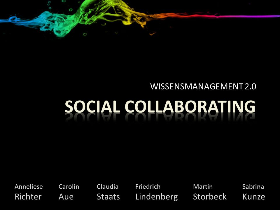 Social Collaborating WISSENSMANAGEMENT 2.0