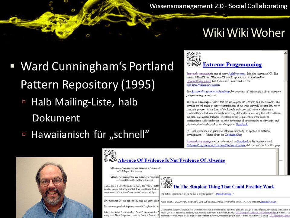 Ward Cunningham's Portland Pattern Repository (1995)