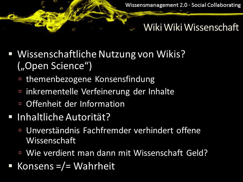 Wiki Wiki Wissenschaft