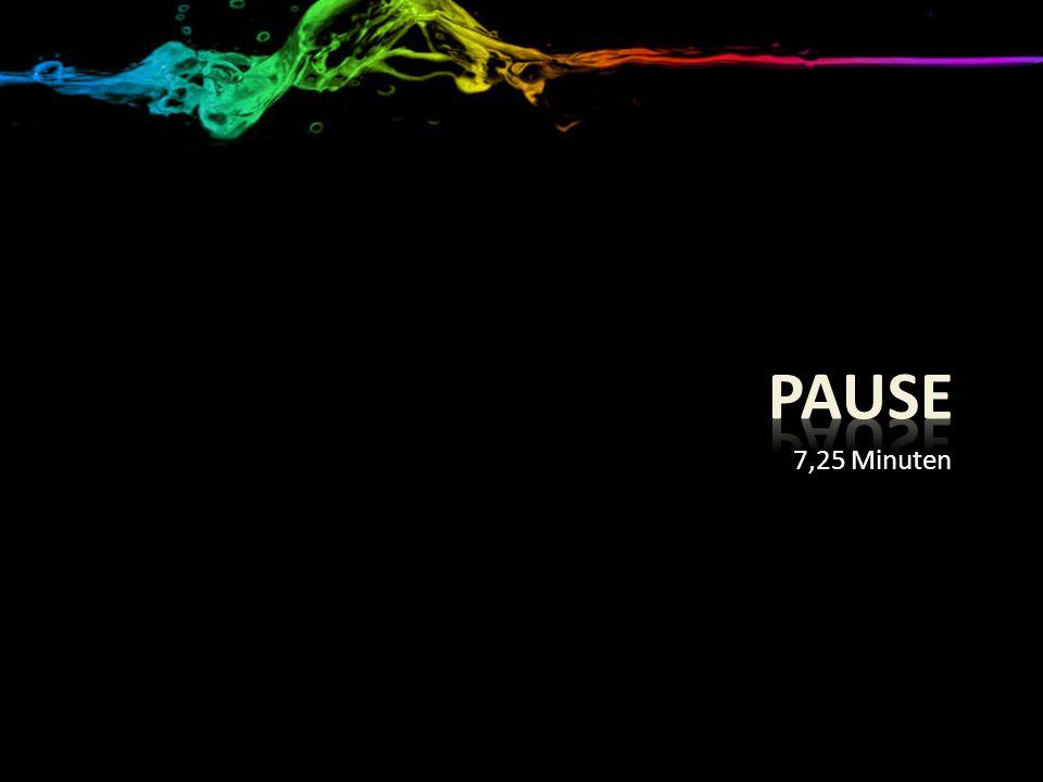 7,25 Minuten Pause