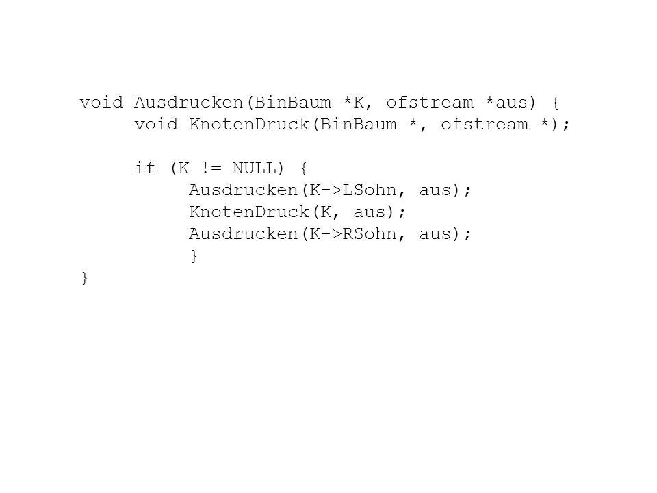 void Ausdrucken(BinBaum *K, ofstream *aus) {