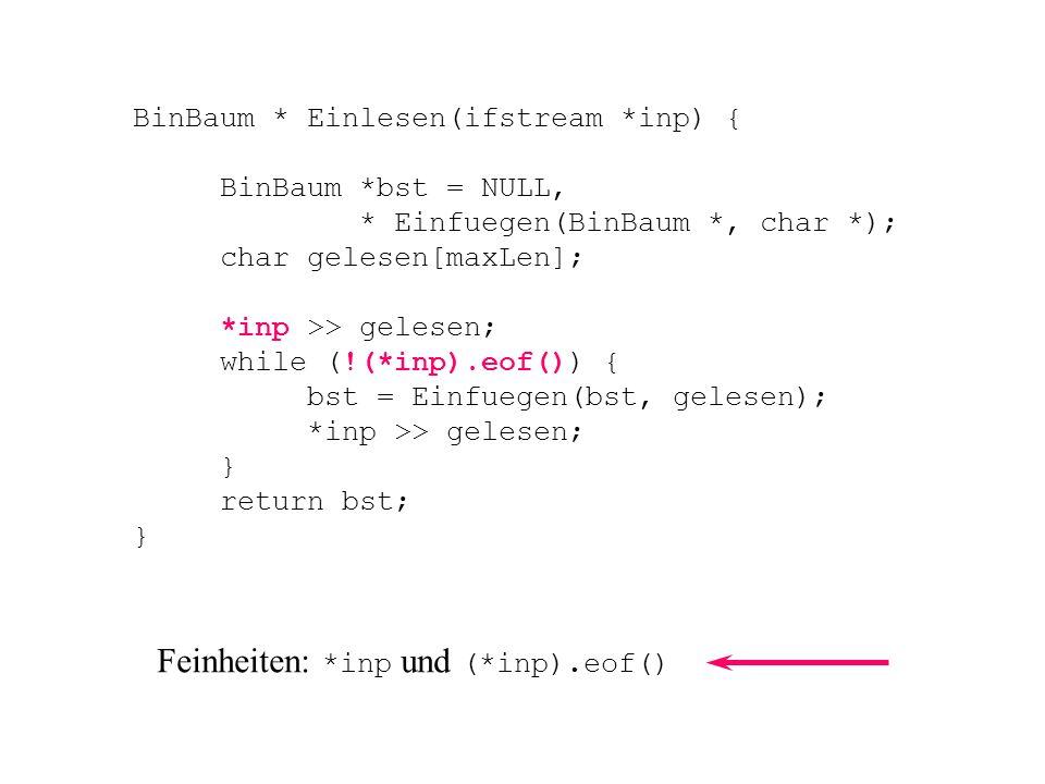 Feinheiten: *inp und (*inp).eof()