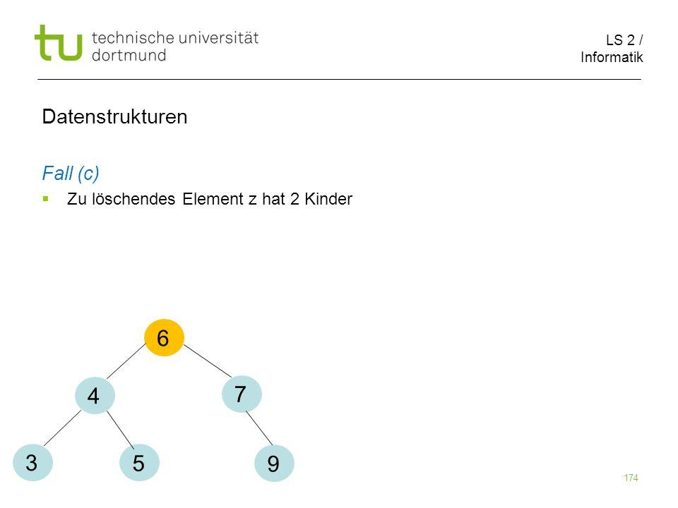 6 4 7 3 5 9 Datenstrukturen Fall (c)
