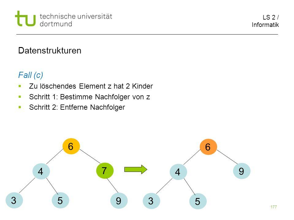 6 6 4 7 4 9 3 5 9 3 5 Datenstrukturen Fall (c)