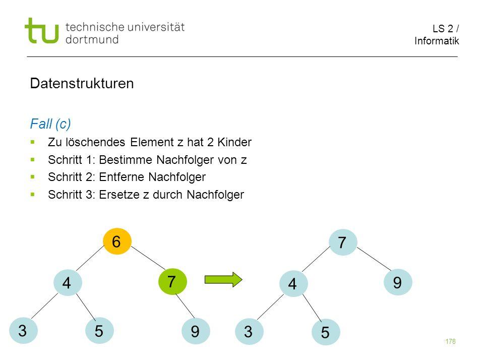 6 7 4 7 4 9 3 5 9 3 5 Datenstrukturen Fall (c)