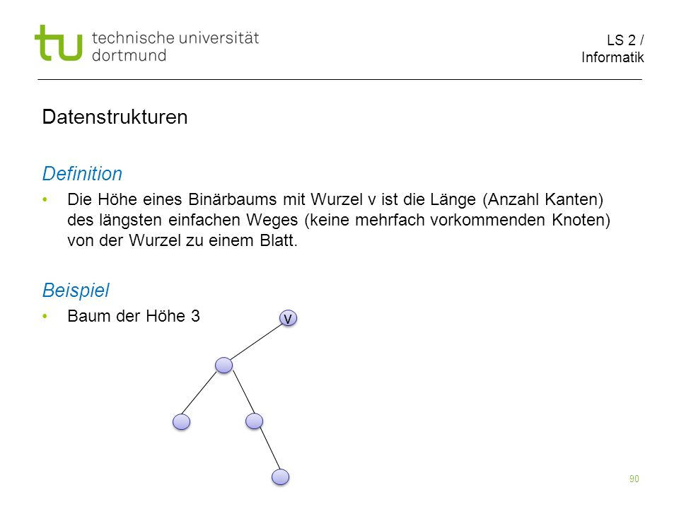 Datenstrukturen Definition Beispiel