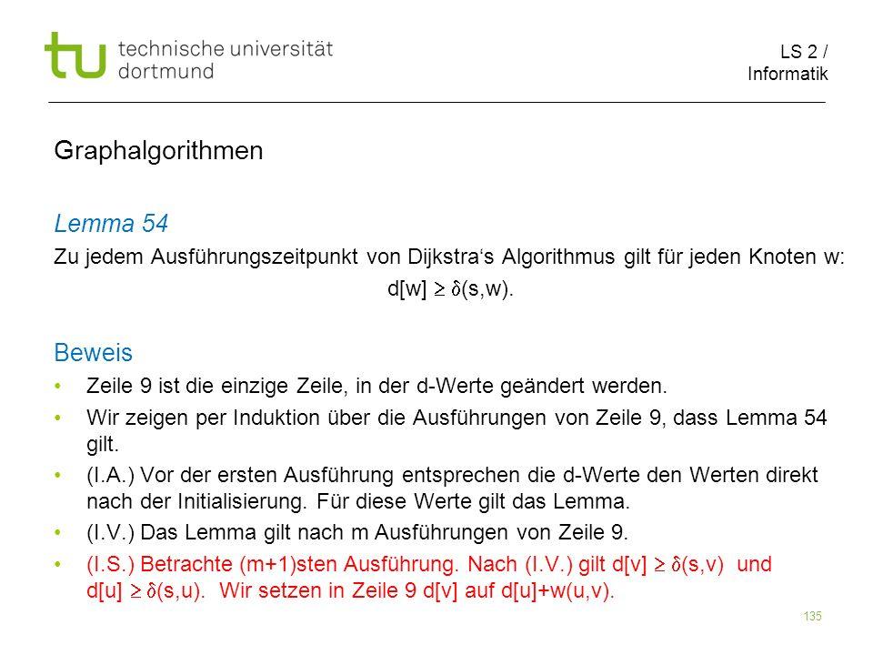 Graphalgorithmen Lemma 54 Beweis