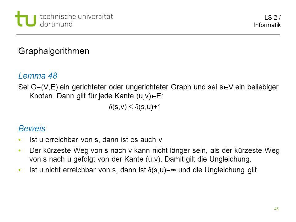 Graphalgorithmen Lemma 48 Beweis