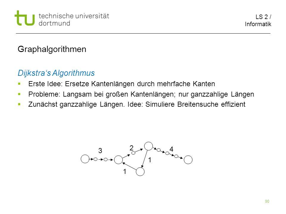 Graphalgorithmen Dijkstra's Algorithmus