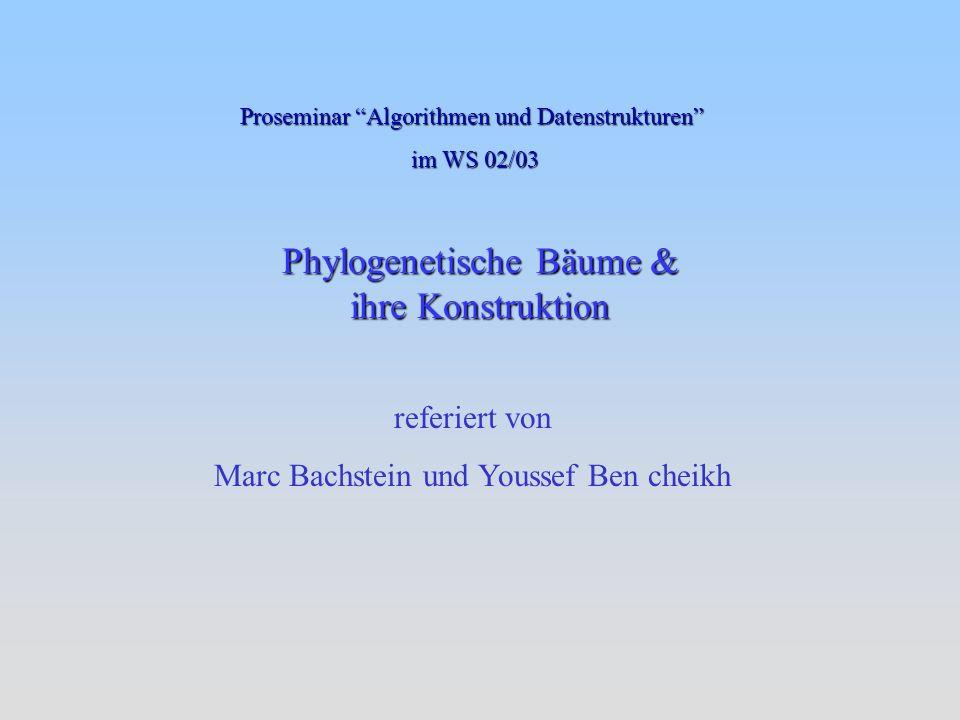 Phylogenetische Bäume & ihre Konstruktion