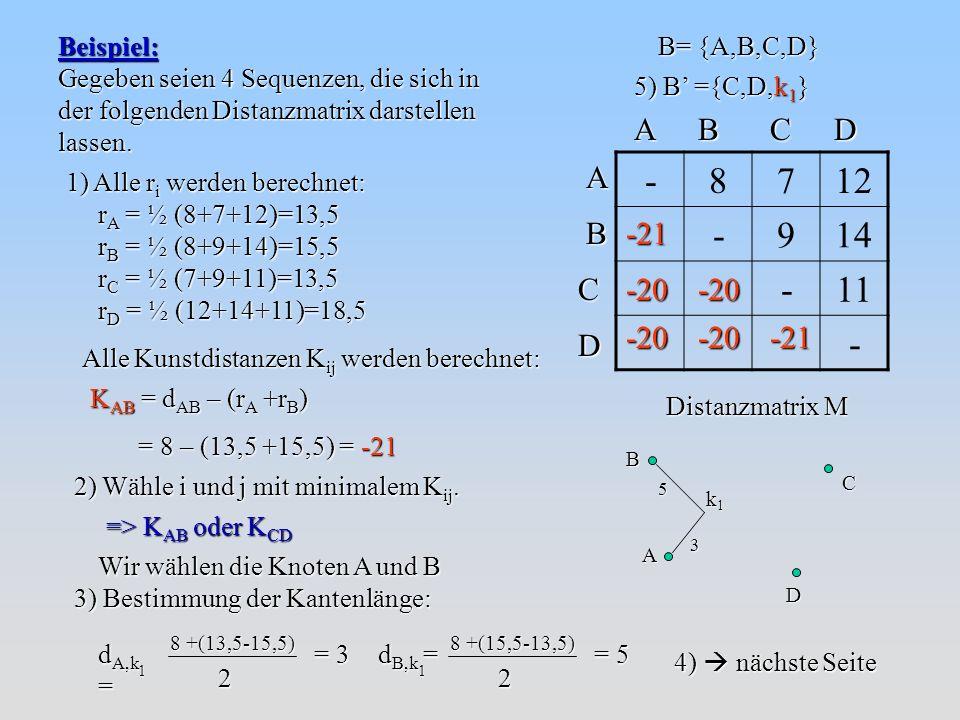 - 8 7 12 9 14 11 A B C D A B C D -21 -20 -20 -20 -20 -21 Beispiel: