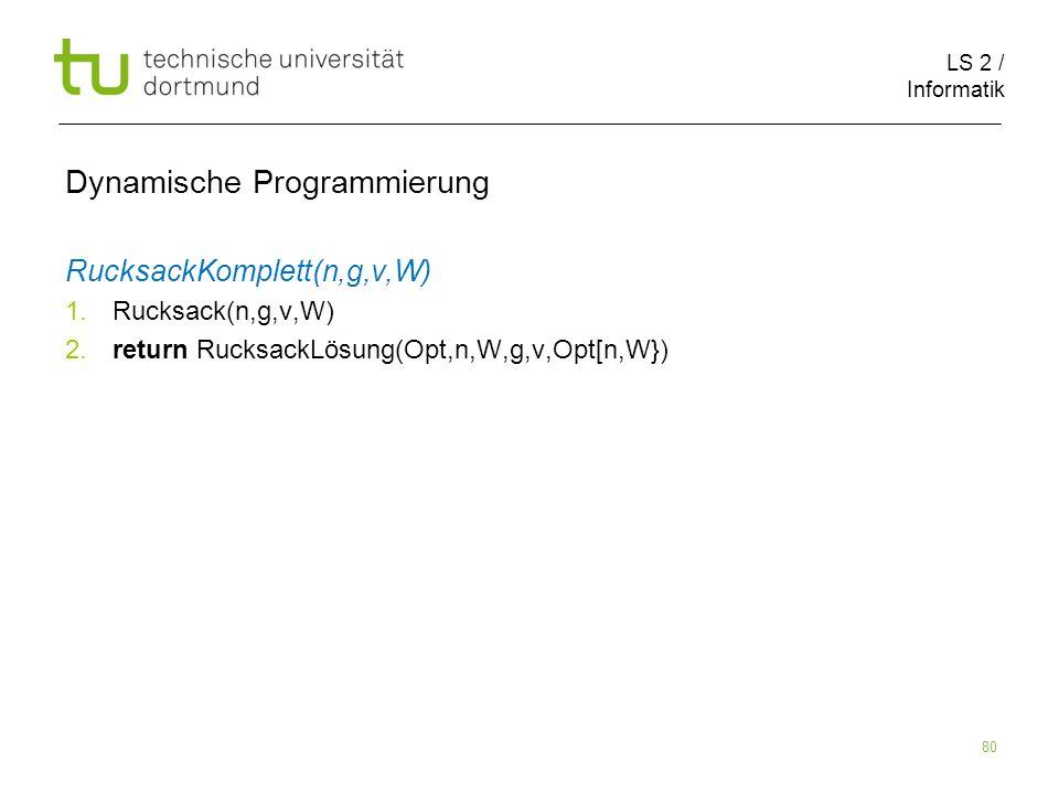 Dynamische Programmierung