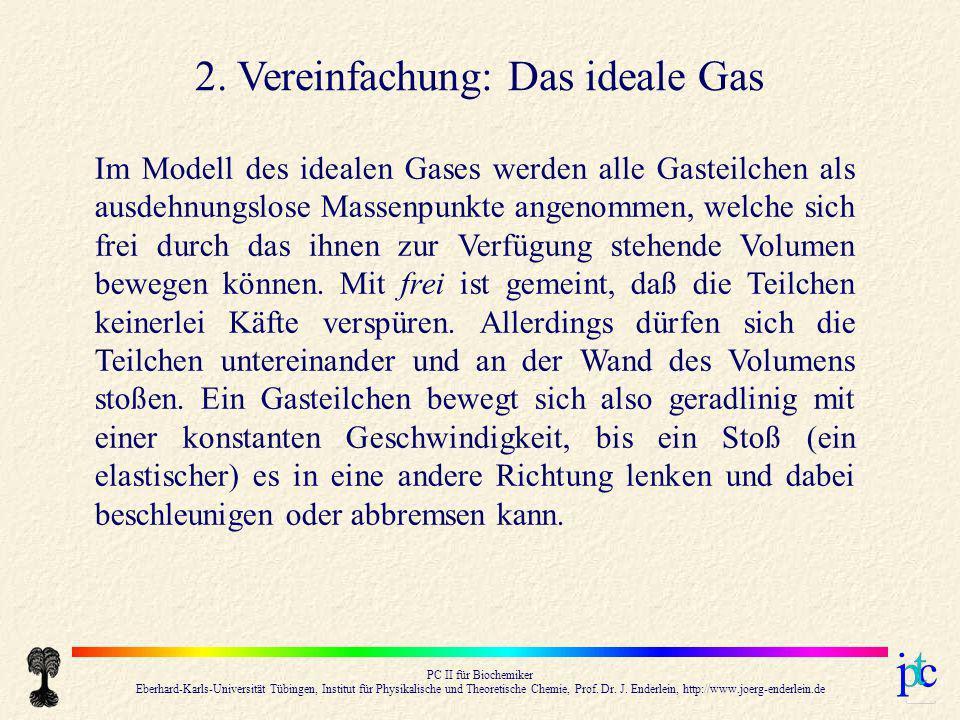 2. Vereinfachung: Das ideale Gas