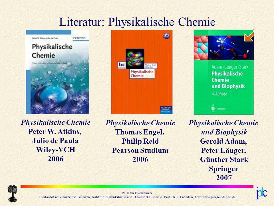 Literatur: Physikalische Chemie