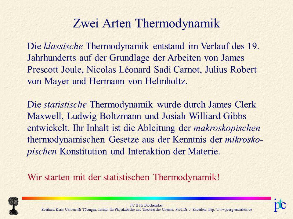 Zwei Arten Thermodynamik