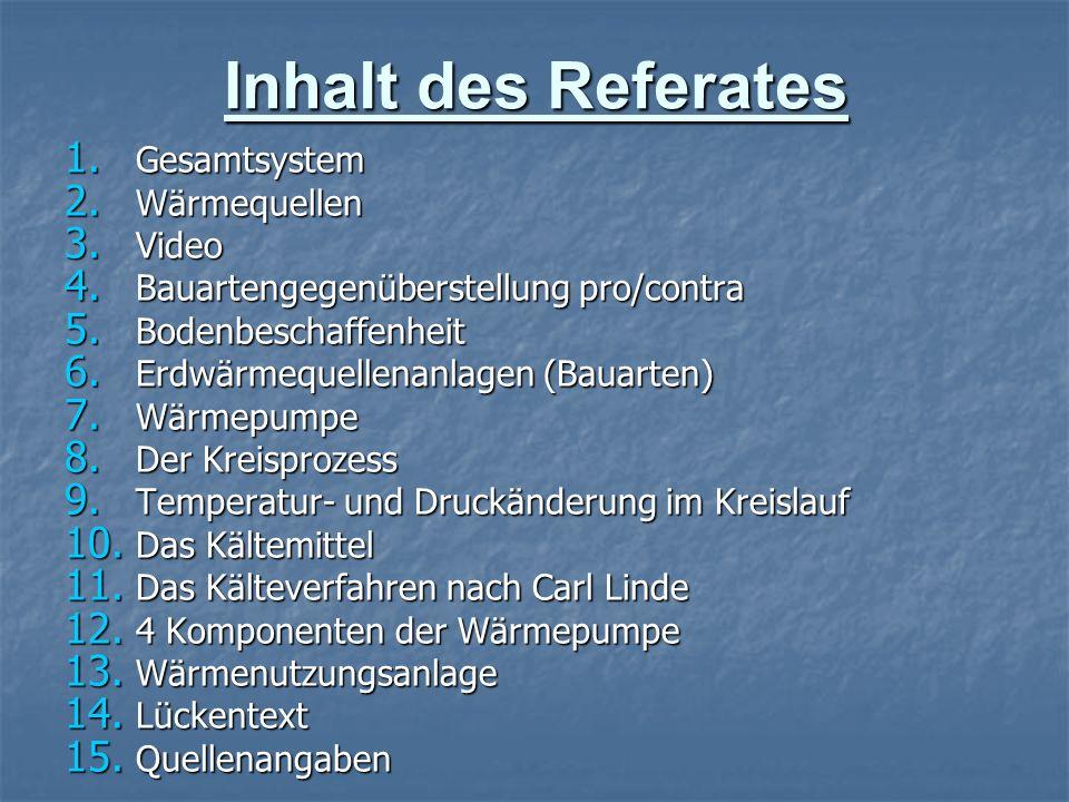 Inhalt des Referates Gesamtsystem Wärmequellen Video