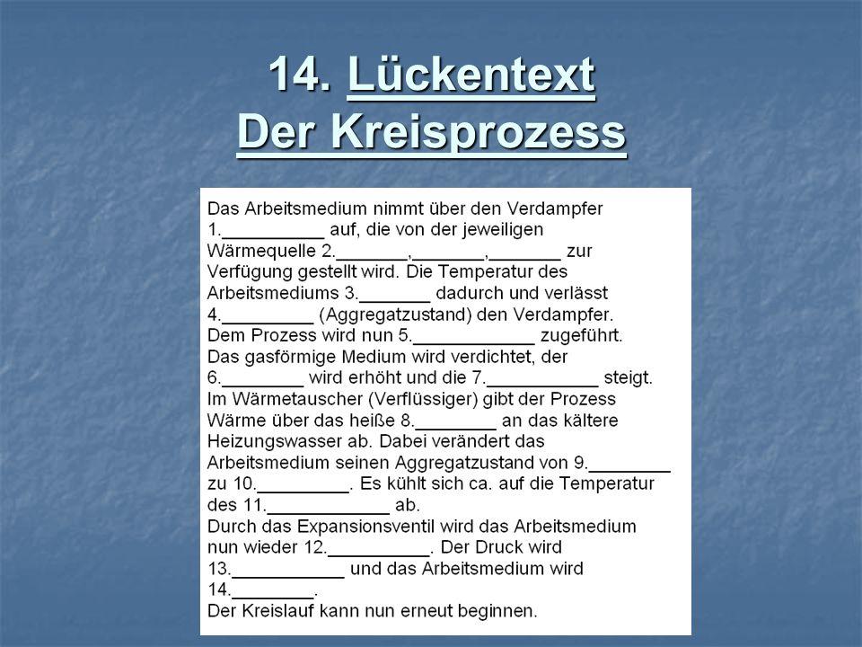 14. Lückentext Der Kreisprozess