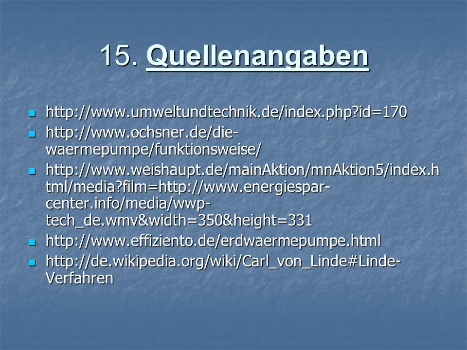 15. Quellenangaben http://www.umweltundtechnik.de/index.php id=170